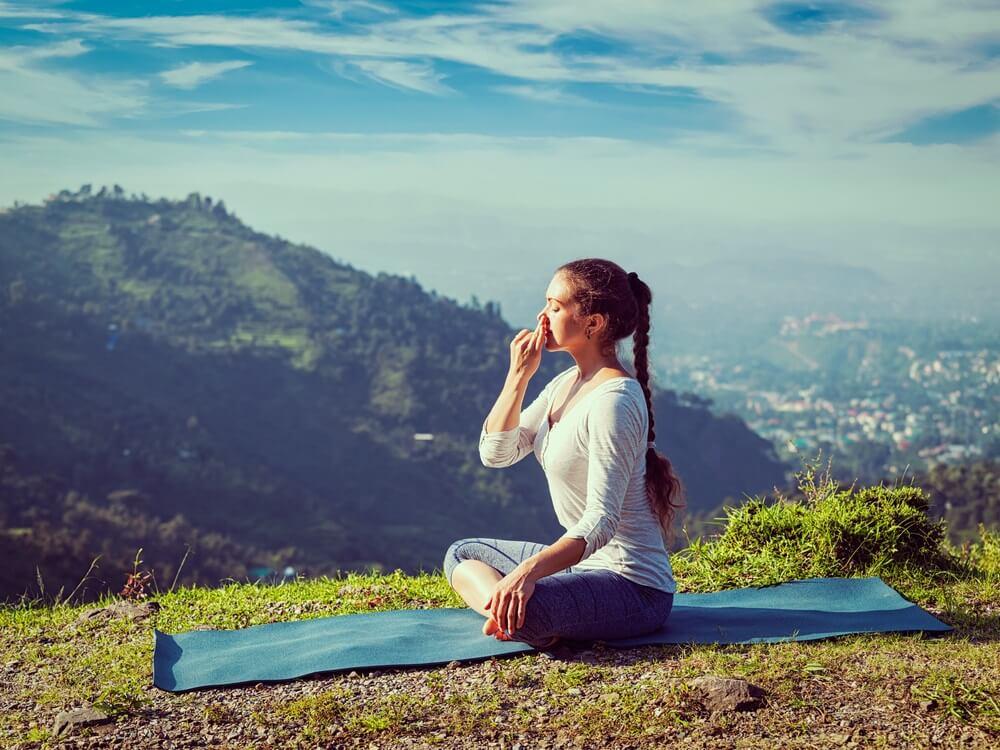Ademhalingsoefening yoga